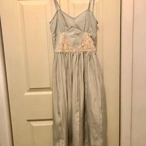 Topshop pale blue lace slip dress Size 2